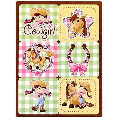 Pink Cowgirl Sticker Sheets (4) by BirthdayExpress (Pink Cowgirl Sticker Sheets)