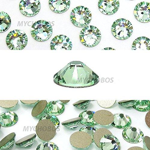 CHRYSOLITE (238) green Swarovski NEW 2088 XIRIUS Rose 34ss 7mm flatback No-Hotfix rhinestones ss34 18 pcs (1/8 gross) *FREE Shipping from Mychobos (Crystal-Wholesale)*
