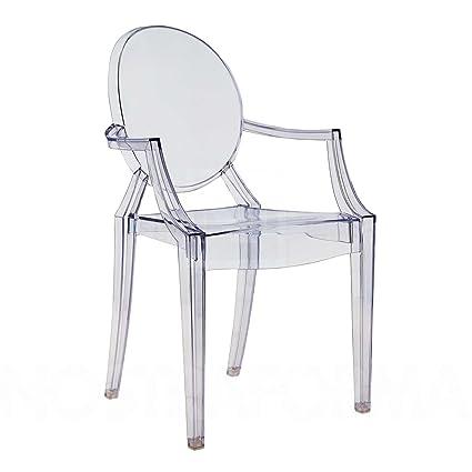 Louis Ghost - Sillón, strohgelb transparent, estándar