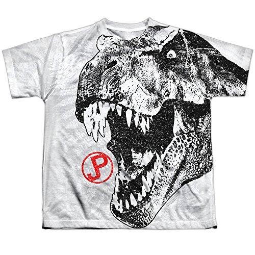 Jurassic Park - Top - T-shirt con stampe - Maniche corte  - opaco - Bambino bianco Medium