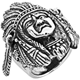Old Glory Large Indian Head - Sterling Silver Ring Size - 12 Jewelry