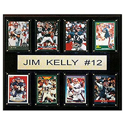 C and I Collectables NFL 15W x 12H in. Jim Kelly Buffalo Bills 8 Card Plaque