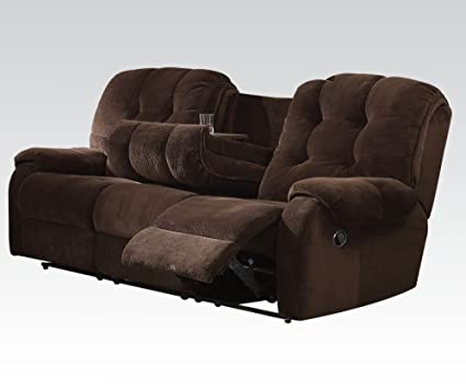Nailah Sofa with Motion in Chocolate by Acme Furniture