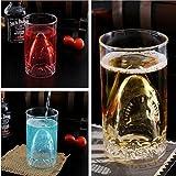 Autek Sharks Cup Creative Transparent Beer Water Wine Drinking Glass Mug