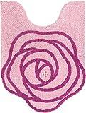 センコー ジュエリーローズ トイレマット 80×60cm ピンク