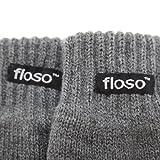 (フロソ) FLOSO キッズ・ジュニア・子供用 サーマル ニット手袋 ニットグローブ 男女共用 (6-7歳) (グレー)