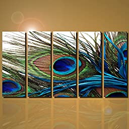 Joy Art Modern Giclee Canvas Prints Artwork the Peacock Picture Printed on Canvas Art for Wall Decor no frame