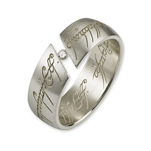Lord Of The Rings - The One Ring 925 Silver 10004033- 2 Mm Diamond White