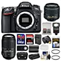 Nikon D7100 Digital SLR Camera with 18-55mm & 55-300mm VR Lenses, WU-1a, Bag & 32GB Card + 64GB Card + Flash + Diffuser + Battery & Charger + Grip + Filters Kit