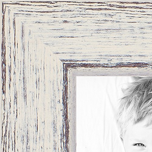ArtToFrames 8x24 inch Eggshell Rustic Barnwood Wood Picture Frame, 2WOM0066-1343-YWHT-8x24 (8x24 Picture Frame compare prices)