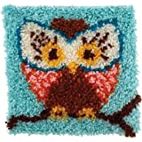 Spinrite Acrylic Blend Wonderart Latch Hook Kit 12 inch x 12 inch Hoot
