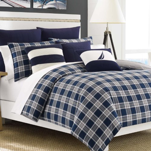 Nautica Eddington Comforter Set, Twin/Twin X-Large, Navy back-1017739