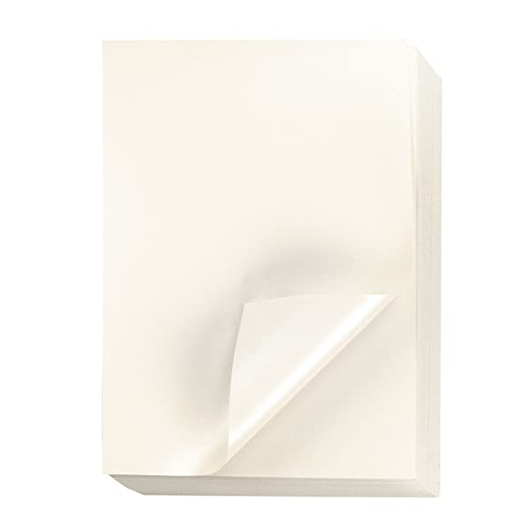 Shimmer Paper - 96-Pack Pale Yellow Metallic Cardstock Paper, Double Sided, Laser Printer Friendly - Perfect for Weddings, Baby Showers, Birthdays, Craft, Letter Size Sheets, 8.7 x 0.03 x 11 Inches (Color: Ivory)