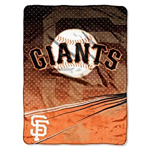 San Francisco Giants MLB Royal Plush Raschel Blanket (Speed Series) (60