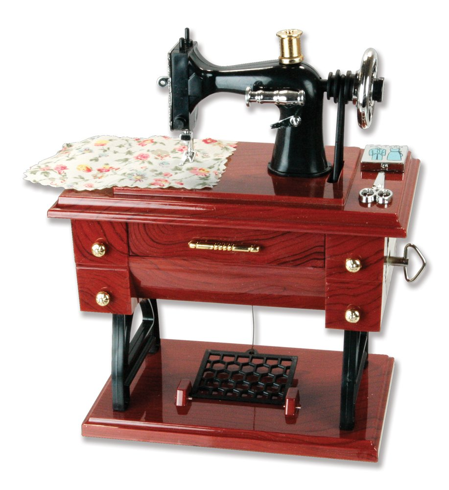Musical Sewing Machine Music Box Vintage Look 0