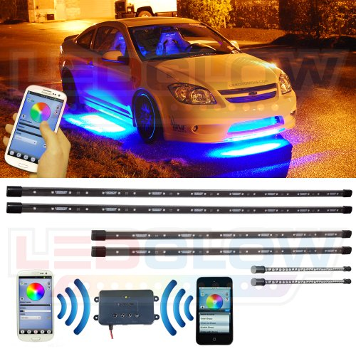 6Pc. Million Color Smd Led Underbody And Interior Lighting Kit With Bluetooth Connectivity