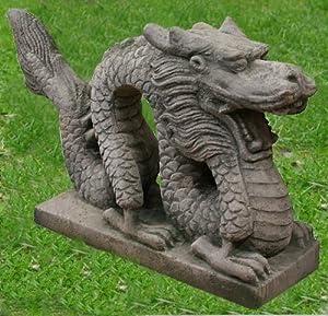 xxl chinesischer drache 22kg beton steinfiguren 60cm. Black Bedroom Furniture Sets. Home Design Ideas