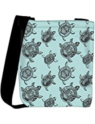 Snoogg Seamless Pattern With Turtles Seamless Pattern Can Be Used For Wallpaper Womens Carry Around Cross Body... - B01I1ILPXI