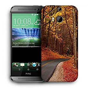 Snoogg Orange Junglee Printed Protective Phone Back Case Cover For HTC One M8