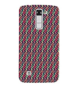 Cute Down Arrow Chevron Cute Fashion 3D Hard Polycarbonate Designer Back Case Cover for LG K10 :: LG K10 Dual SIM :: LG K10 K420N K430DS K430DSF K430DSY