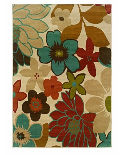 """Granville Rugs Aiden Rug, Ivory, 5' x 7' 6"""""""