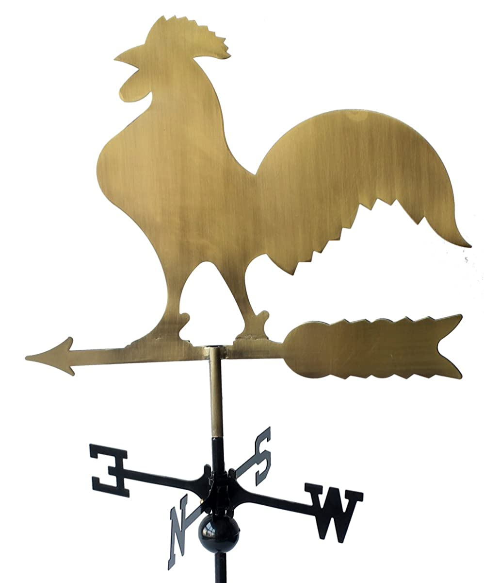 "Classic 32"" Tall Metal Copper Color Rooster Weathervane with Adjustable Roof Mount …"