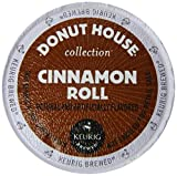 Donut House Collection Light Roast K-Cup for Keurig Brewers, Cinnamon Roll Coffee (Pack of 96)