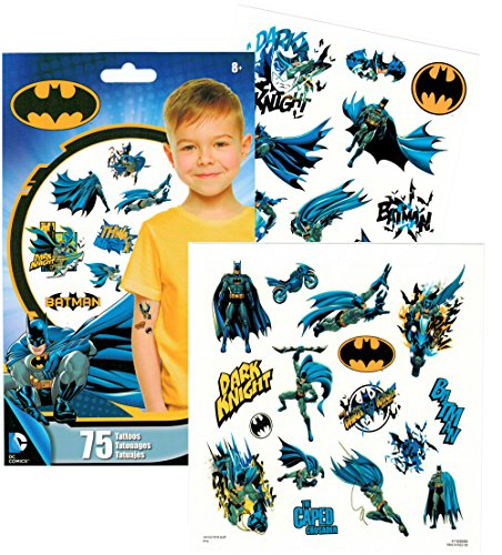 DC Comics BATMAN Temporary Tattoos - Pack of 75