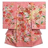 お宮参り 着物 女の子 正絹女児初着 ピンク 熨斗 桜 鈴 桜地紋