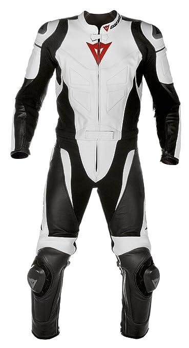 Dainese 1513316 T. Avro Div. Combinaison de moto en cuir Blanc/noir