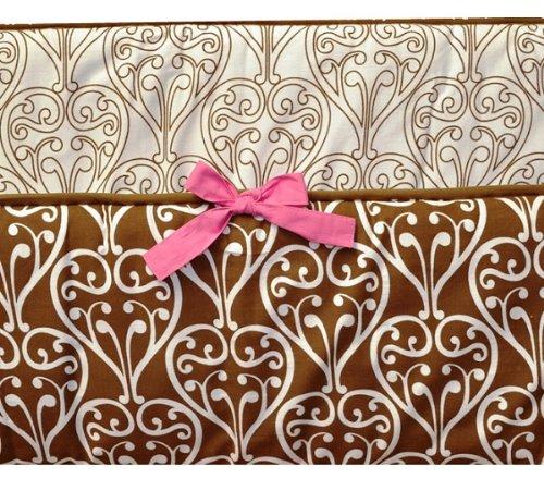 Damask Pink/Choco Bumper Pad
