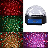 1byone O00QS-0060 8.6 Crystal Super LED Stage Light with Sound Activated & Dmx512 Control