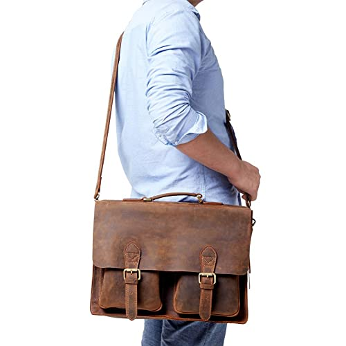 Leather Laptop Briefcase Messenger Bag 2016