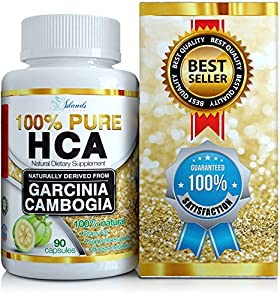 Pure Hca Diet Pills Extreme Potency Garcinia Cambogia Extract Slim Formula Appetite Suppressant Hydroxycitric Acid Carb Blocker To Reduce Belly Fat And Lose Weight For Men And Women by Island's Miracle