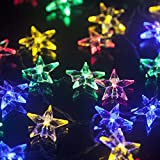 TLT Battery Operated 30 LED Star Fairy String Lights (Multi-Color), Great for Patio Garden Lawn Christmas Party Pathway Fence LED033