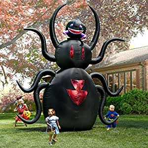 Halloween inflatable giant 12 39 t x 10 39 w for Animated spider halloween decoration