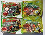 Bundle (4 Items) Nickelodeon Gummy Candy Variety Pack (TMNT/Sponge Bob Square Pants) 2 Each