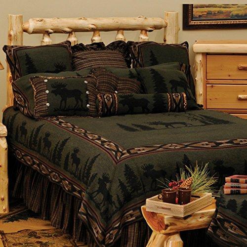 Wooded River Moose Bedding Set