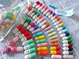 50 Pcs Message in a Bottle Capsule Letter Cute Love Friendship Color Pill Gift(sends randomly)