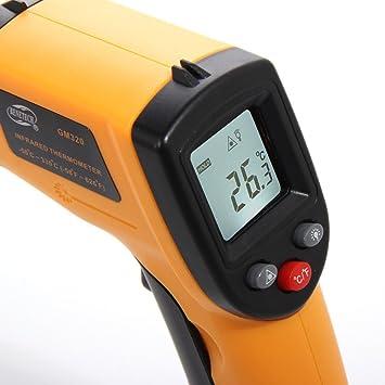 YOUZZON® Termómetro Medidor Infrarrojo Láser IR Digital GM320 ... 2efffdec687