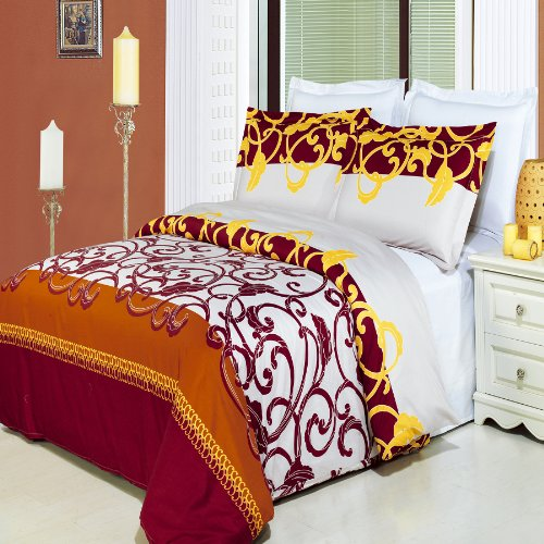 Egyptian Bedding Mission Printed 3 Piece Queen Size Duvet Set, 100% EGYPTIAN COTTON