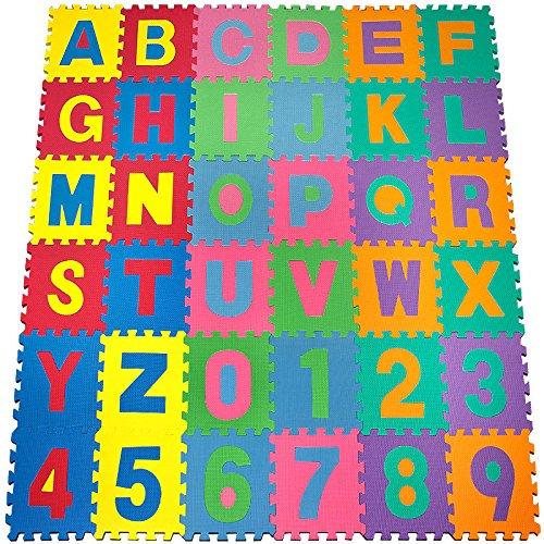 Spielteppich Kinderteppich Spielmatte Lernteppich 86 tlg. 192×192 3,84m² günstig kaufen