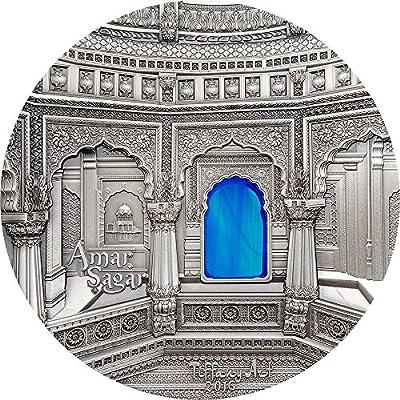 2016 PW tiffany art TIFFANY ART AMAR SAGAR Jain Temple 1 Kg Kilo Silver Coin 50$ Palau 2016 Dollar Perfect Uncirculated