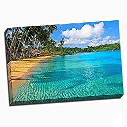 Paradise Beach Canvas Wall Art