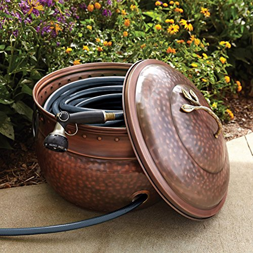 Garden Hose Storage Pot With Lid Lawn And