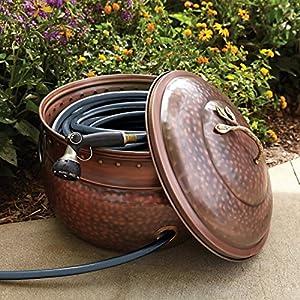 Amazon.com: Garden Hose Storage Pot with Lid: Patio, Lawn & Garden