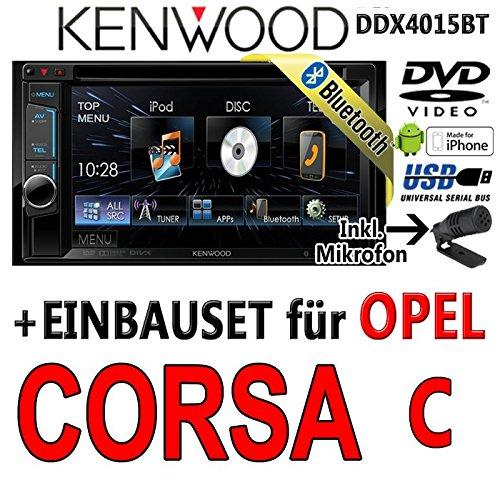 Opel corsa c, kenwood-noir-dDX4015BT 2DIN multimédia avec