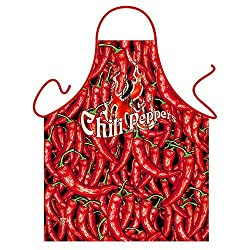 'Chili Peppers' - Kitchen Apron - 100% Polyester