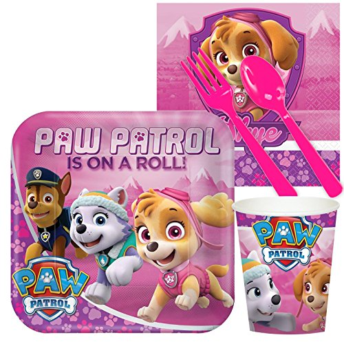 Pink Paw Patrol Girl Party Supplies - Snack Party Pack