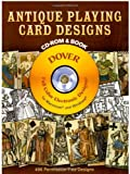 img - for Antique Playing Card Designs CD-ROM and Book (Dover Electronic Clip Art) book / textbook / text book